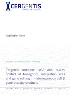 Targeted complete NGS and quality control of transgenes, integration sites and gene editing in heterogeneous cell & gene therapy products