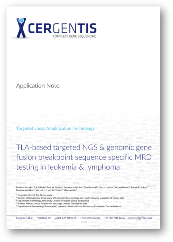 Application note - MRD testing in leukemia and lymphoma